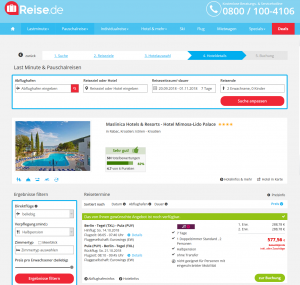 Screenshot Deals Kroatien Hotel Maslinica