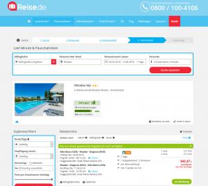 Screenshot Deals Rhodos Hotel Afandou Sky