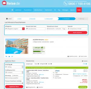 Screenshot Deals Spanien Hotel Alegria