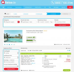 Screenshot Deals Zypern Hotel Constantinou Bros