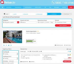 Screenshot Deal Venecia Apartments auf Mallorca