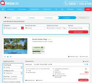 Screenshot Deal Ranweli Holiday Village auf Sri Lanka
