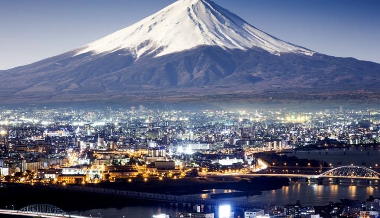 Der Mount Fuji auf der Insel Honshu! Japan