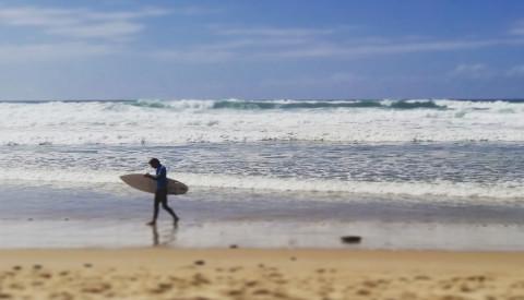 Surfen in Lacanau, Frankreich