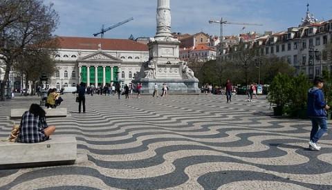 Paläste und Plätze in Lissabon