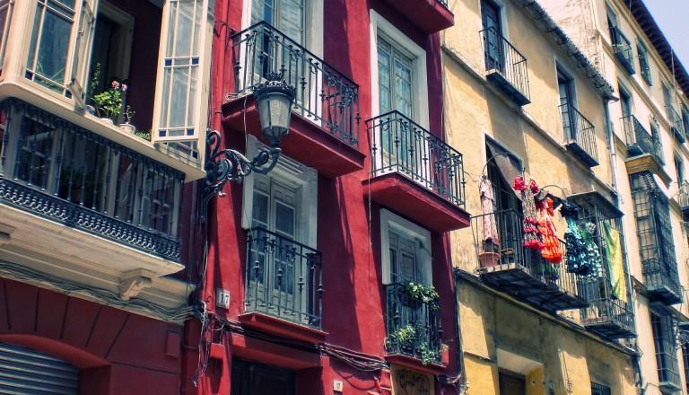 Das Künstlerviertel Soho in Malaga.