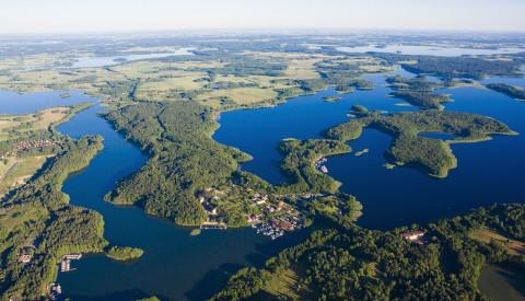 Die Seenplatte der Masuren in Polen.