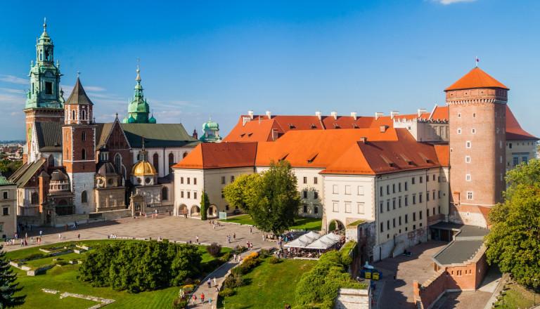 Die Burg Wawel in Krakau Polen
