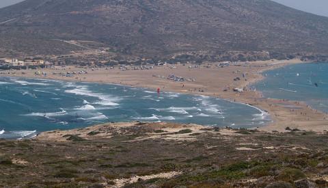 Prasonisi ist ein Hot Spot für Wassersportler. Rhodos Reisen
