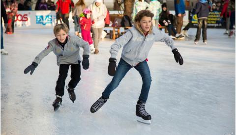 Eislaufen ist in Rostock sehr beliebt.