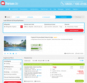 Screenshot Deals Dom. Republik Hotel Tropical Princess
