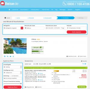 Screenshot Deals Mallorca Hotel Lliteras