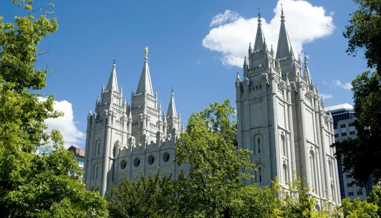 Der Salt Lake Tempel der Mormonen