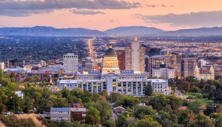 Eingebettet in wunderschöner Natur: Die Hauptstadt Uthas Salt Lake City.