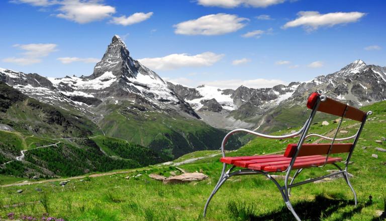 Schweiz Matterhorn Januar