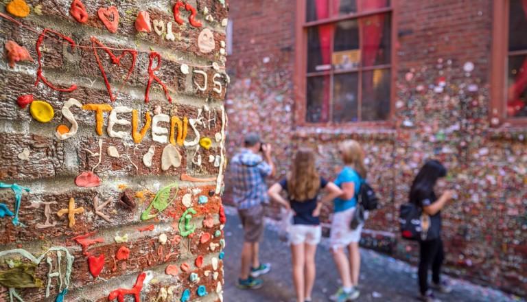 Seattle Gum Wall Sehenwürdigkeiten auf Städtereisen