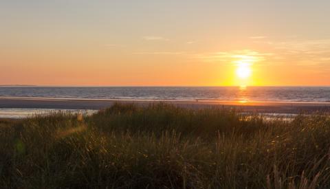 Sonnenuntergang auf Langeoog