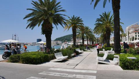 Die Promenade Splits läd zum Bummeln ein