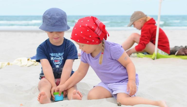 Strand-Kinder-Ostsee-Familienurlaub