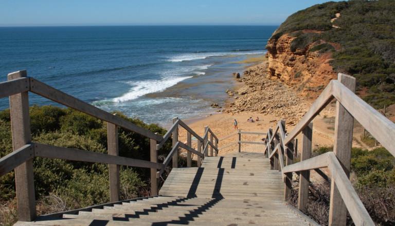 Strand-Treppe