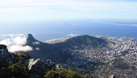 Sicht vom Tafelberg auf Kapstadt