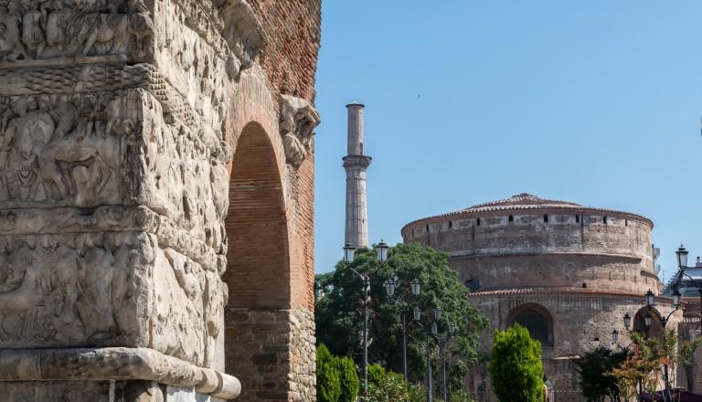 Der Galeriusbogen und die Rotunda in Thessaloniki