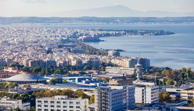 Die Stadtteile Aretsou und Nea Krini von Thessaloniki.