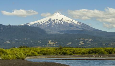 Der Villarica Vulkan in Chile