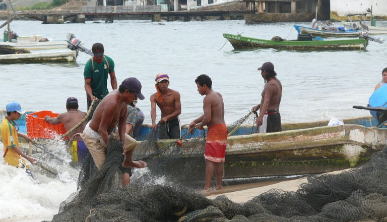 Fischerdörer bei Acapulco