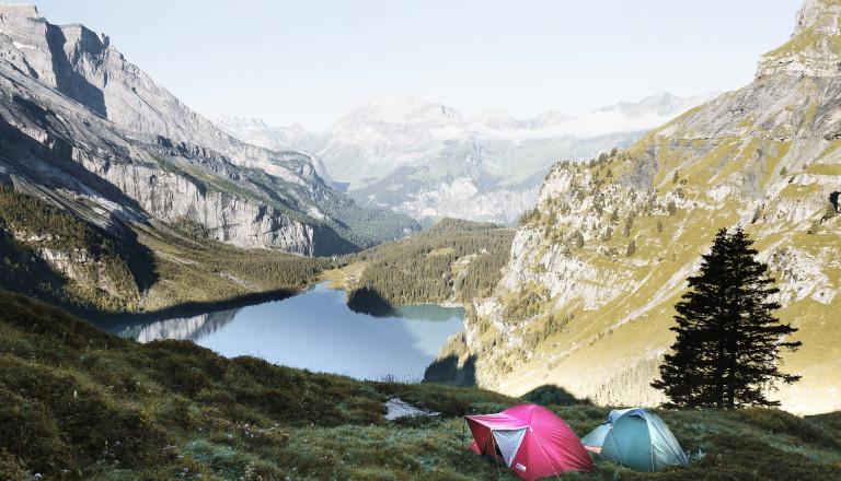 Zelten im Gebirge