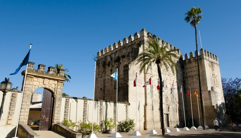 Die imposante Festung Alcazar in Jerez.