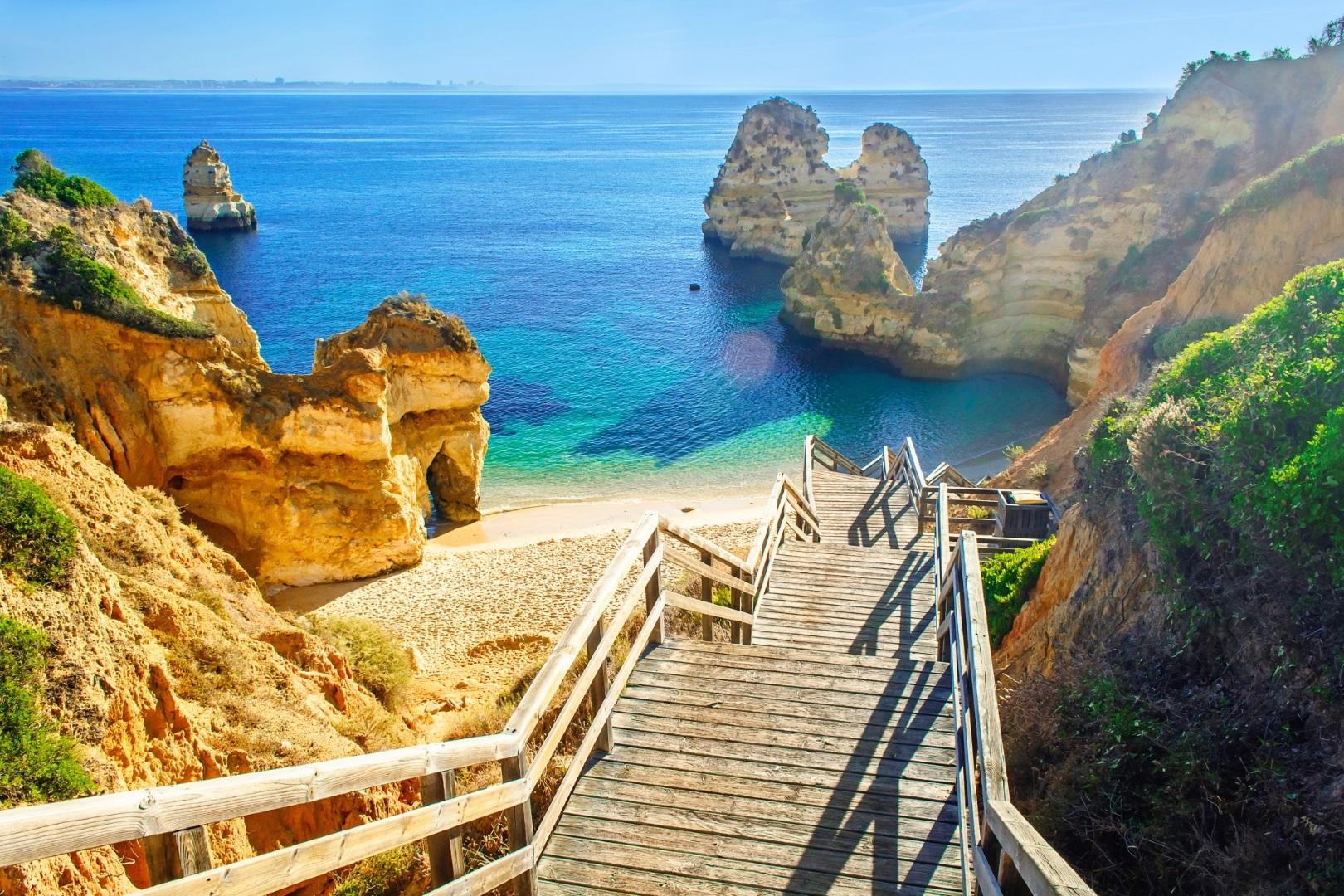 Algarve Reisen Lagos Praio do Camilo