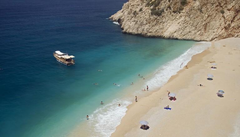 Traumstrände der türkischen Rivera: Kaputas Beach.