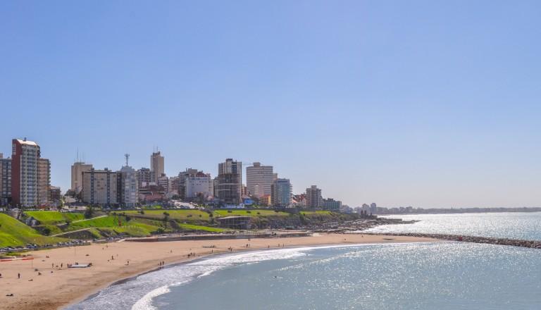 Mar del Plata unweit von Buenos Aires. Stände in Argentinien