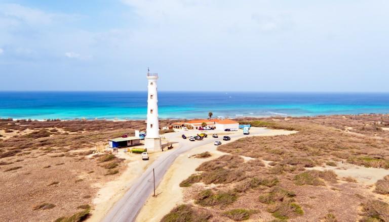 California Lighthouse - Das Wahrzeichen von Aruba. Sehenswürdigkeiten und Reisen.