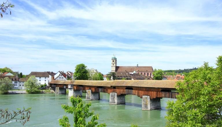 Die Holzbrücke von Bad Säckingen.