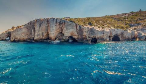 Die Blauen Höhlen auf Zakynthos in Griechenland