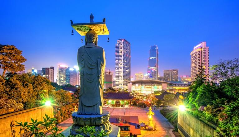 Der Bongeunsa Tempel in Seoul Südkorea Reisen