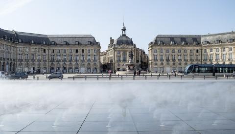 Der Place de la Bourse von Bordeaux