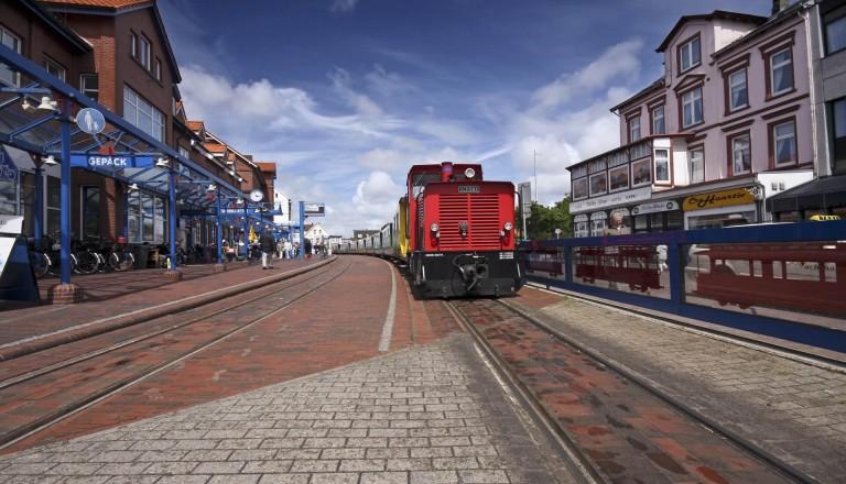 Der Borkumer Bahnhof