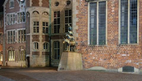 Die Bremer Stadtmusikanten - ein Wahrzeichen der Hansestadt.