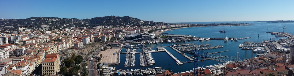 Cannes Hafen Panorama