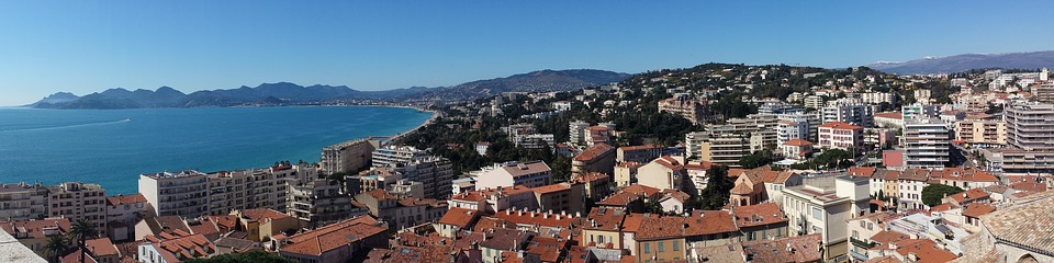 Cannes Panorama Stadt