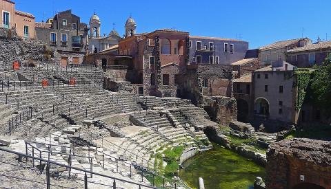 Das römische Theater in Catania.