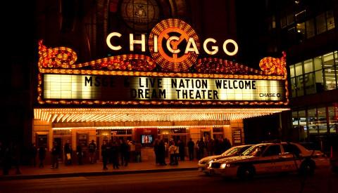 Kultur findet man auch im berühmten Chicago Theatre.