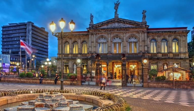 Das Nationaltheater in San Jose. Costa Rica.