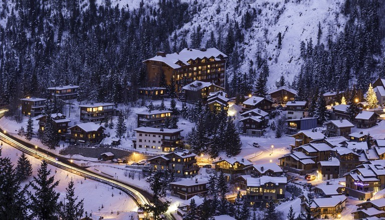Courchevel in Frankreich. Ski.