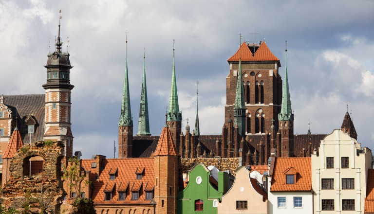 Danzigs Altstadt mit Marienkirche.