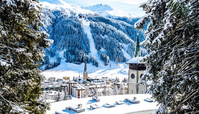 Davos Skigebiet Schweiz