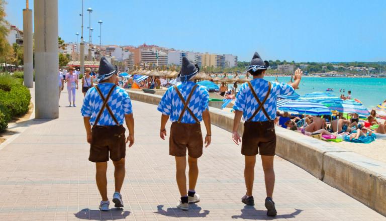 Deutsche Urlauber auf Mallorca